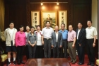 The Director of Association of History Professors in America, China Fang Qiang, led his group to visit the Hall.