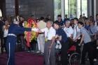 陳鴻齡團長率抗戰時期中美混合聯隊前隊員回國訪問團蒞館參訪及敬獻。