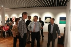 """Elegance of Lacquer Painting: Chinese Lacquer Painting Society Members Joint Exhibition""was held at Bo-ai Art Gallery. Distinguished guests who attended the opening ceremony included former Minister without Portfolio of the Executive Yuan, Huang Guang-nan. Duration: 10/13-10/23."