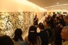 德明藝廊展出「蘇汶容抽象畫五十回顧展」。