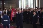 中國國民黨吳敦義主席暨全體同志一行350人,於國父孫中山先生152年誕辰紀念日向國父銅像獻花致敬。