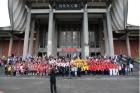 為紀念國父誕辰152年,本館與中華民國團結自強協會,於正門廣場前舉辦「紀念國父誕辰152年-青春、幸福、活力」活動,特邀請新節慶合唱團、中正紀念堂志工合唱團,以及中華民國團結自強協會合唱團等表演團體共襄盛舉,觀眾反應熱烈,觀賞人數約1,500人。