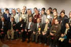 """Taiwan Seal Society, Zhongnan Seal Art Association, Cross-Strait Seal Art Joint Exhibition"" took place at Bo-ai Art Gallery. Distinguished guests who attended the opening ceremony included the former Director-general of the Bureau of Cultural Heritage, Ministry of Culture, Mr. Wang Shou-lai. Duration: 12/14-12/24."