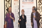 文華軒展出「2018年臺南市傑出藝術家巡迴展-書畫•對話 畫家賴美華VS書法家黃宗義」。