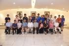 德明藝廊展出「圖騰•天目•我在-靖翁陶藝創作展」。參加開幕式貴賓有陸軍專校校友總會陳俊生理事長等。