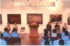 文華軒展出「國軍第51屆文藝金像獎暨空軍第31屆藍天文藝獎」。參加開幕式貴賓有:空軍副司令張延廷中將及本館林國章館長等。