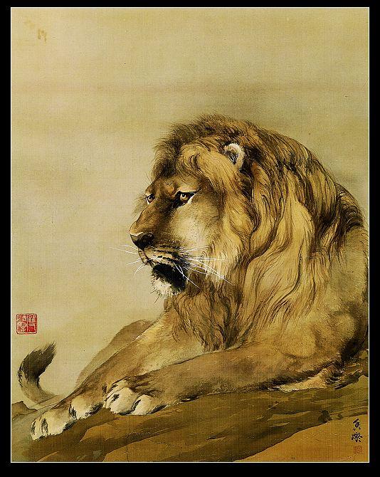 """封面 獅-1914;63×49cm;設色絹本;款題:""""香凝""""。鈐印:朱文""""香凝"""",白文""""雙清樓""""。"""