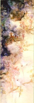 玉燕紫藤圖