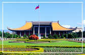 A panoramic view of the façade of National Dr. Sun Yat-sen Memorial Hall.