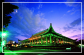 National Dr. Sun Yat-sen Memorial Hall at night lends an air of tranquility