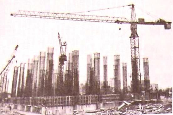 塔式自昇式吊車施工一景