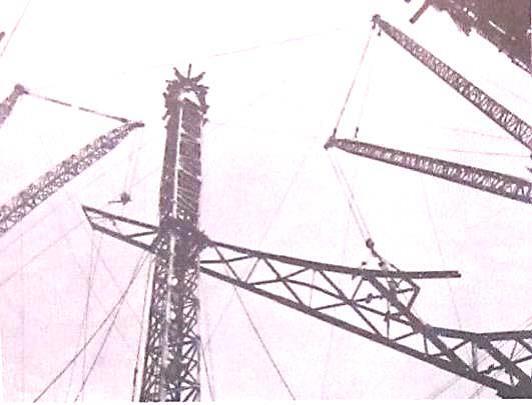 澆築機塔座作為臨時支架