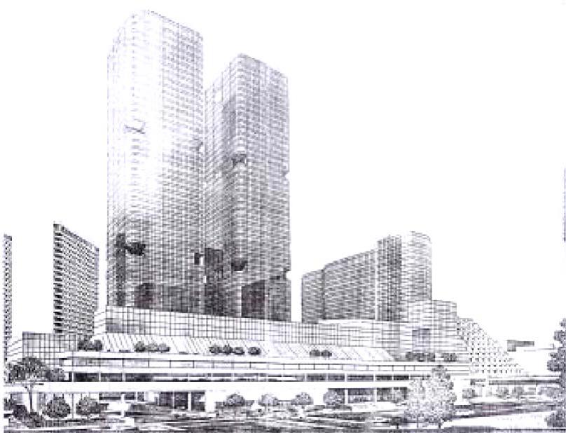 中正紀念堂用地原現代化商業中心開發設計圖