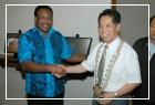 索羅門群島總理西庫瓦閣下H. E. Dr. Derek Sikua伉儷來館參訪