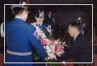 紀念國父逝世七十八週年,國父長孫孫治平先生獻花致敬