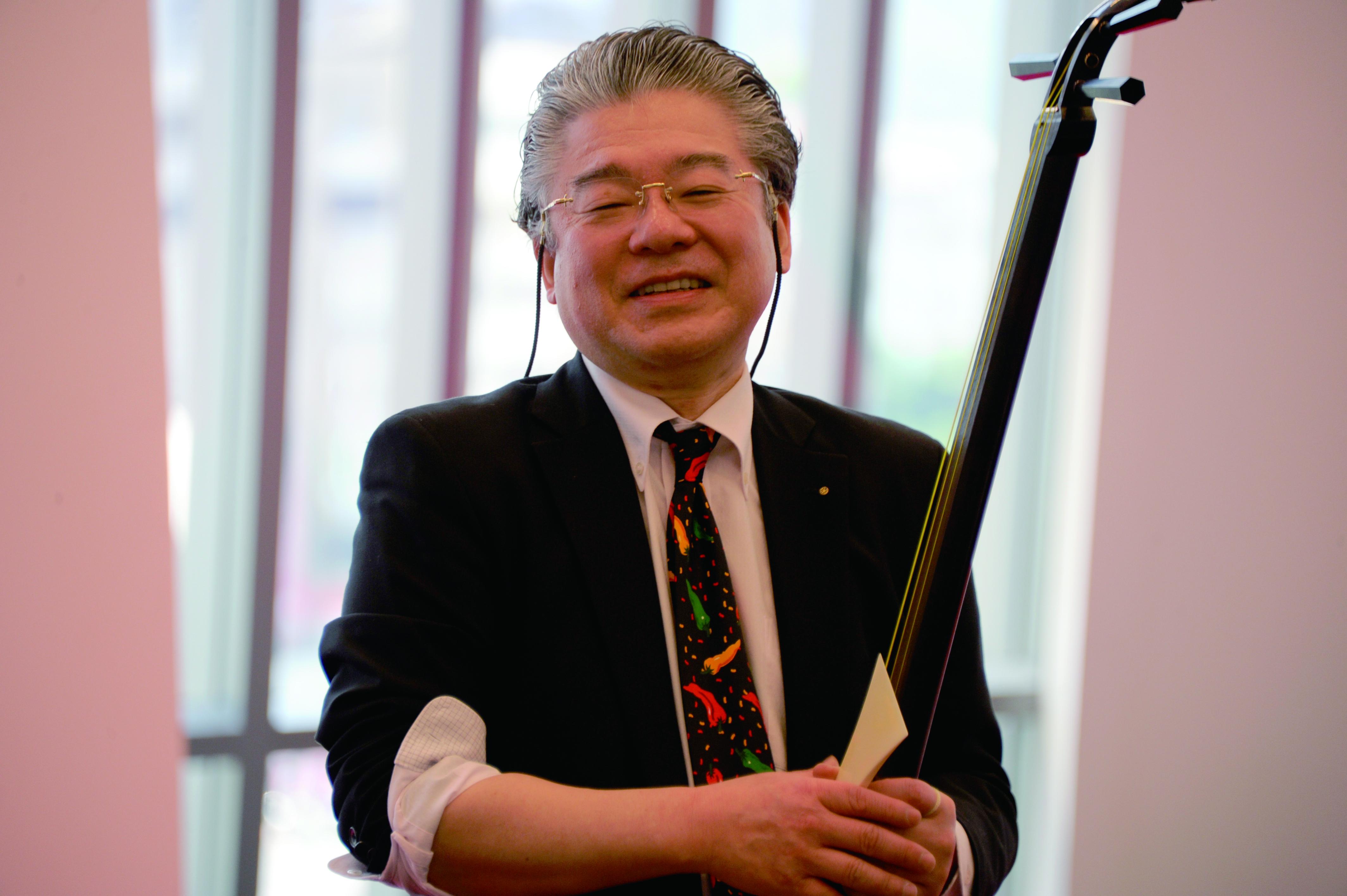 除了崑曲與舞踊,《繡襦夢》還有日本國寶級三味線藝術家-常磐津文字兵衛的加入。.JPG