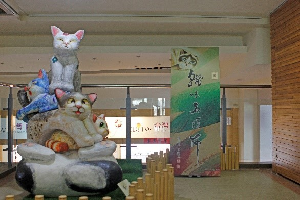 2樓進駐工坊陳設-貓咪雕塑拍照區