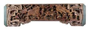 國立傳統藝術中心典藏的「三王圖」員光,從左至右分別雕飾麒麟、牡丹和鳳凰。.jpg