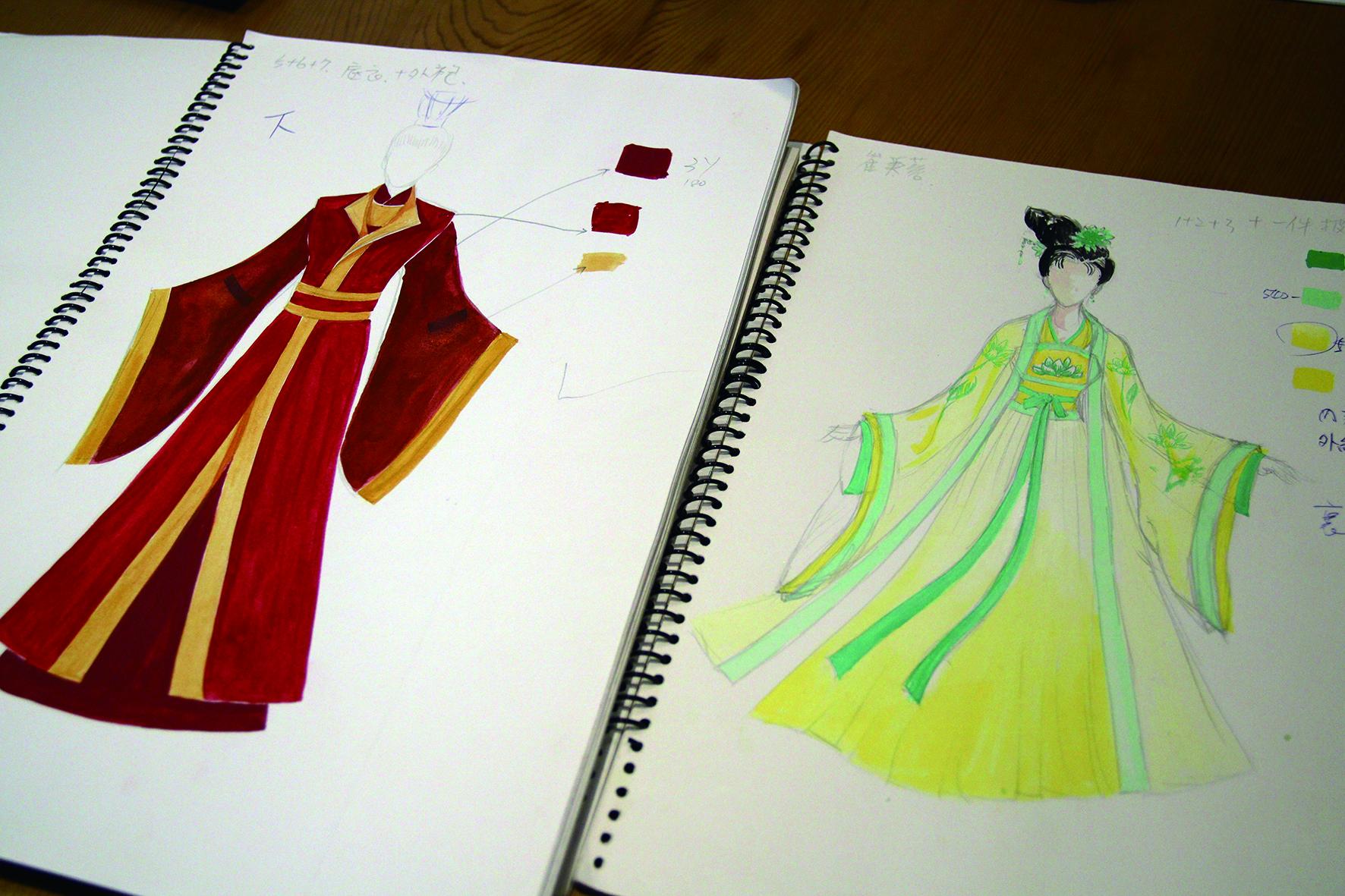 陳振旺為一心戲劇團《芙蓉歌》所繪製的戲服設計圖.JPG