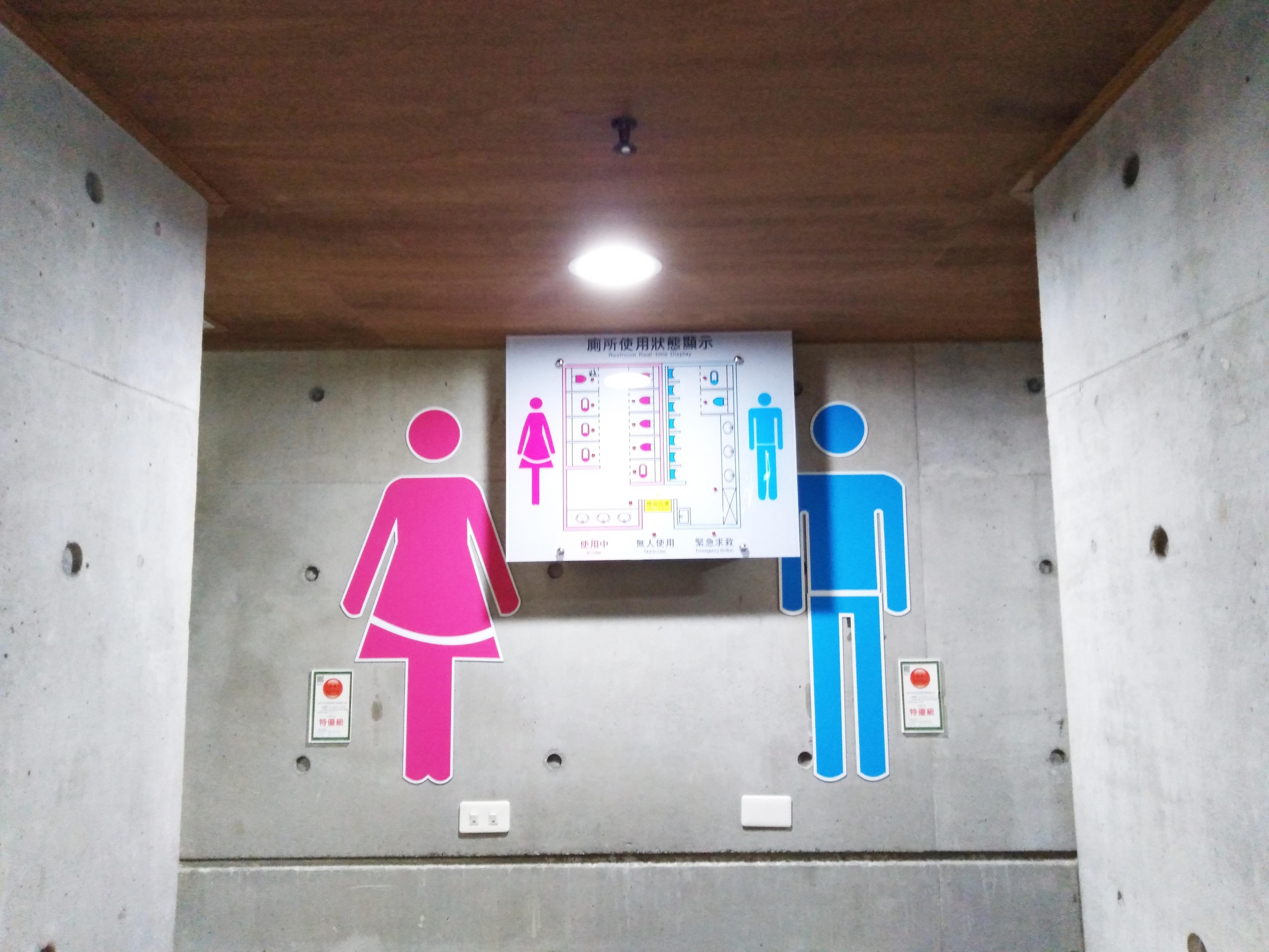 廁所使用狀態顯示看板