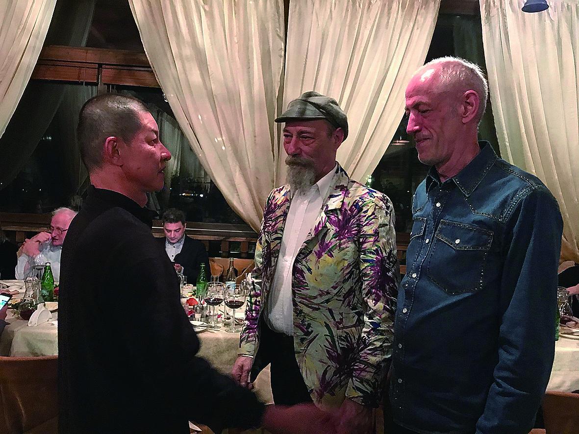 演後音樂總監黃誌群與Euro News記者Wolfgang Spindler交流與對談。.jpg