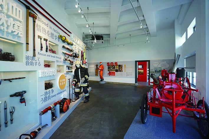 臺南市消防史料館內有許多互動學習的體驗.JPG