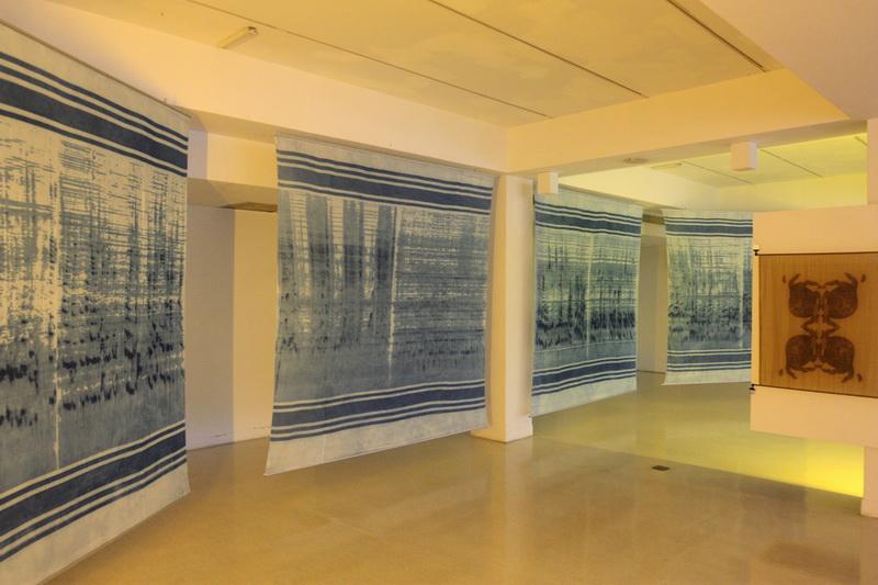 B1F-天然纖維與雷射染跨域合作創新展-希望藉由計畫的開發過程向觀眾展示工藝和其他領域數位合作可能性