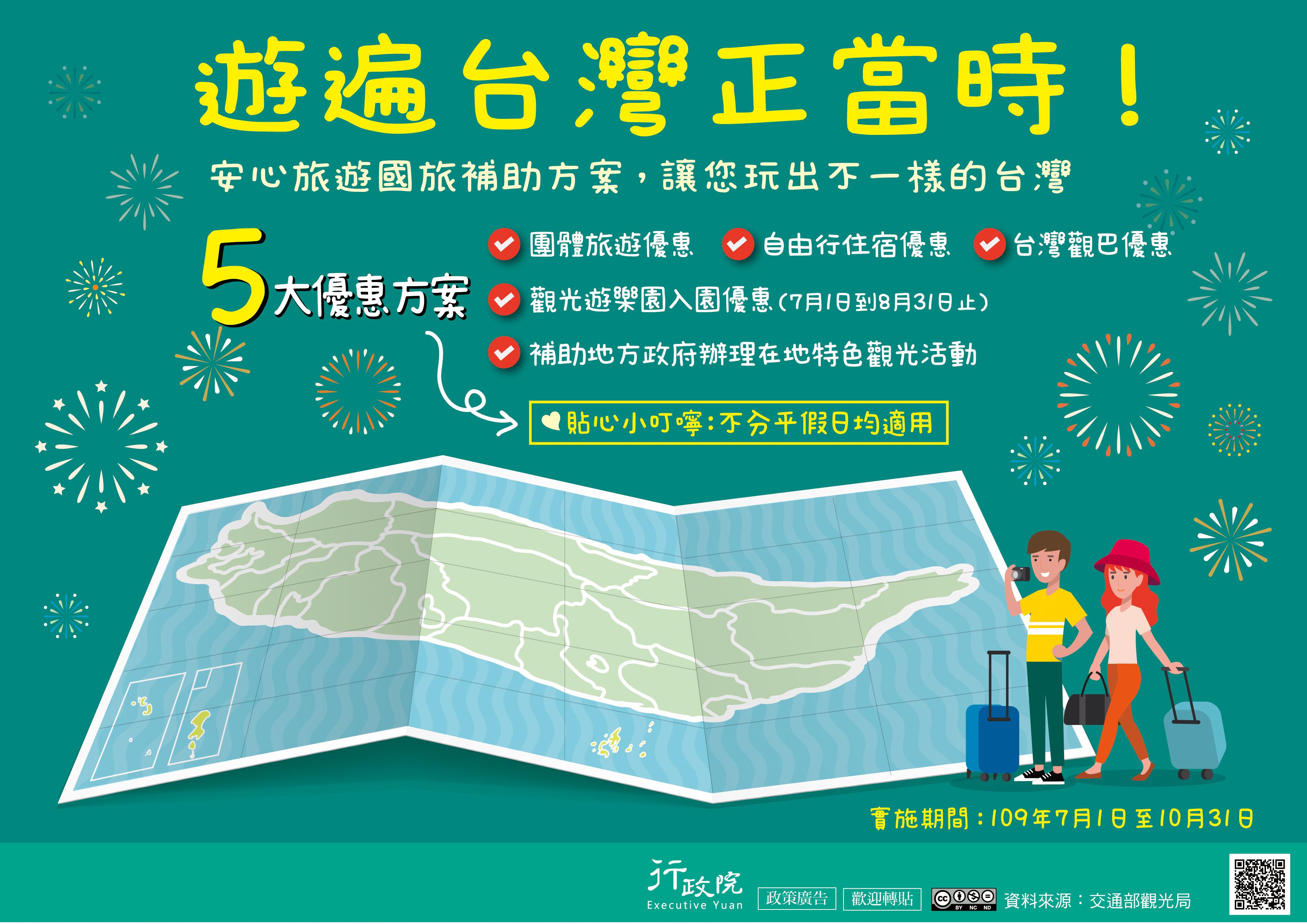 安心旅遊國旅補助方案宣傳海報