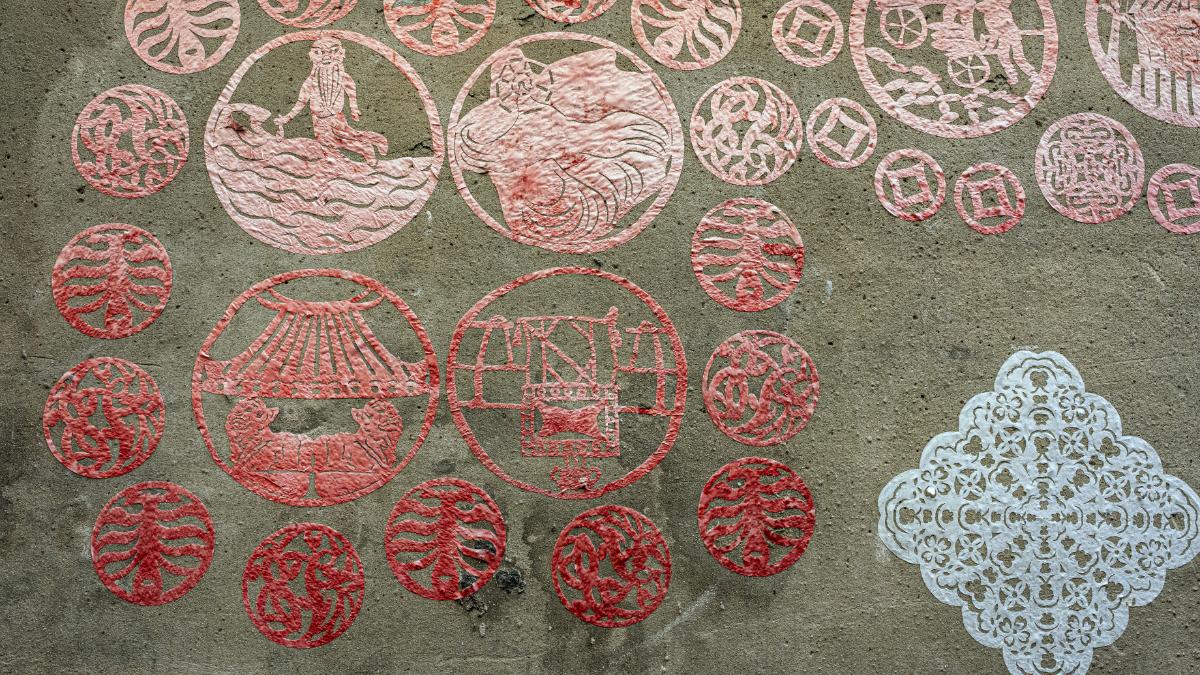 普濟殿旁的「剪紙巷」