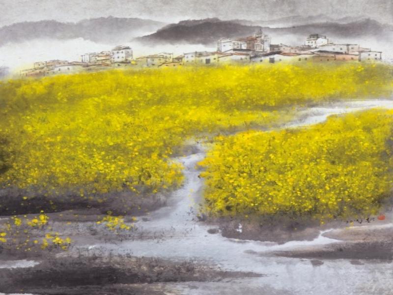 "Tsai Yuo ""Yellow Flowers in Spring"""