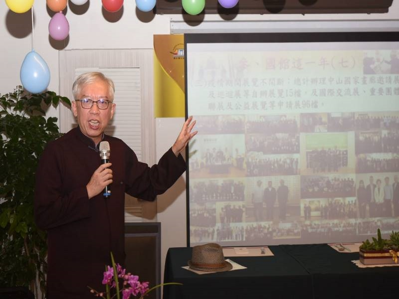 Director-general Liang Yung-fei introduced the great art exhibitions