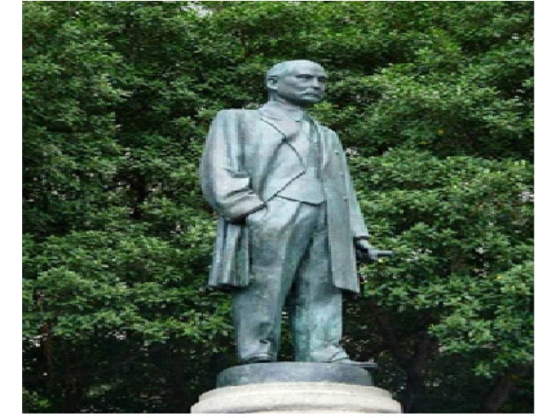 Statue of Fumio Asakura and Dr. Sun Yat-sen