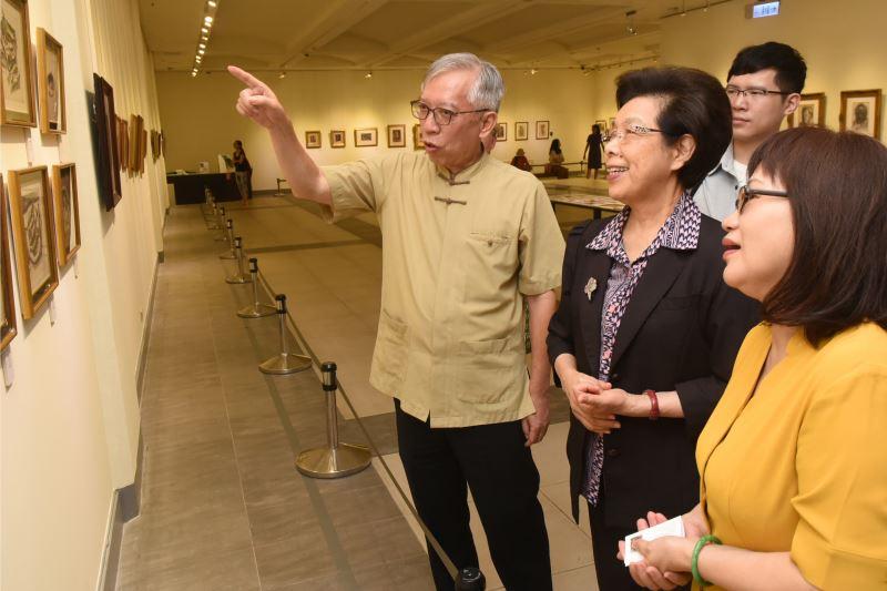 張博雅院長參觀張萬傳110歲紀念展