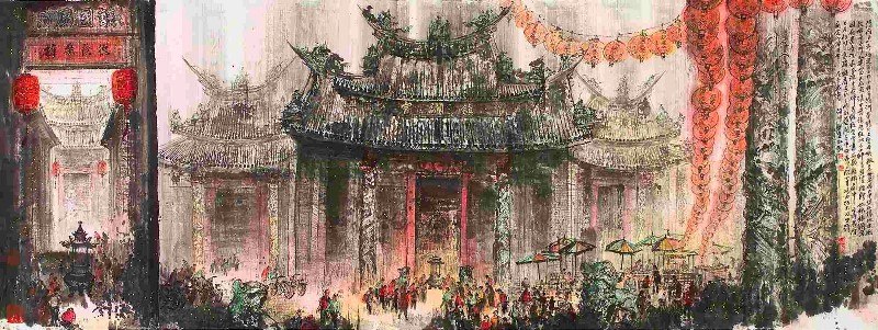 """""""Dajia Zhen-lan Temple"""" by Jiang Ming-xian"""