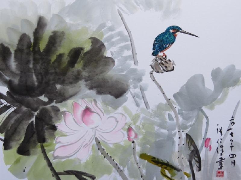 "Hong Ren-bao ""Lotuses in Summer"""