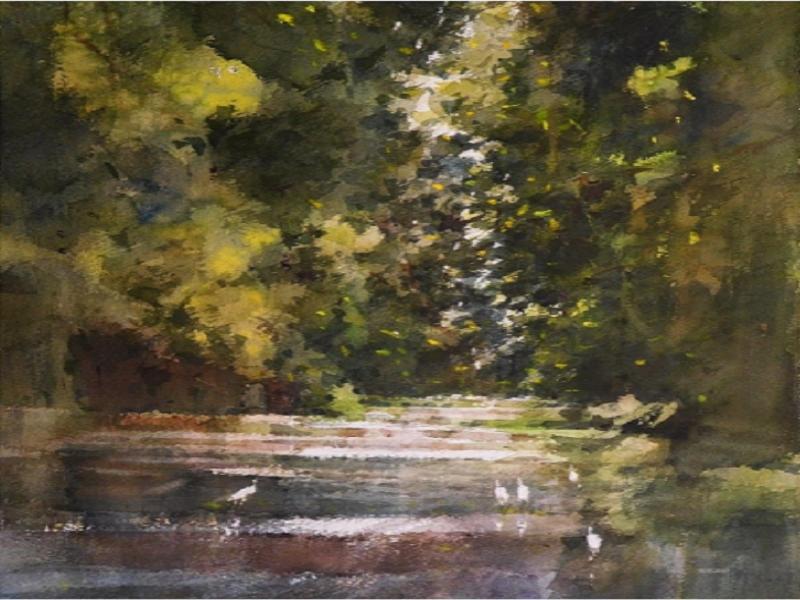 """Zhang Guo-hua """"Autumn Stream"""""""