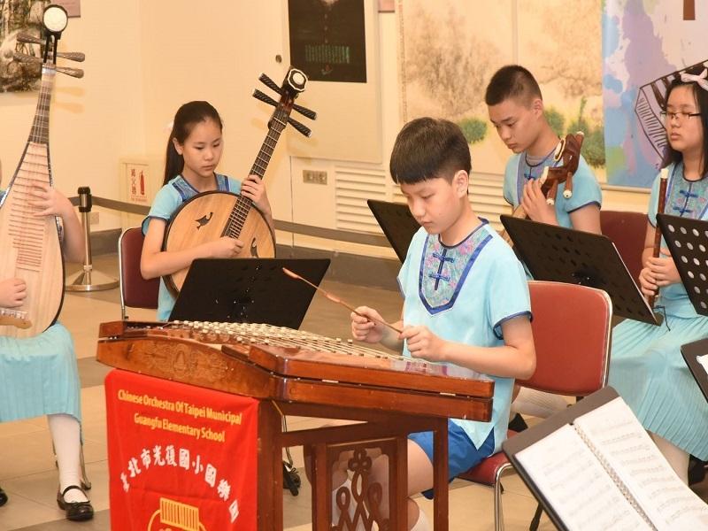 國立國父紀念館音樂浸潤展覽空間系列活動由光復國小國樂團表演之3