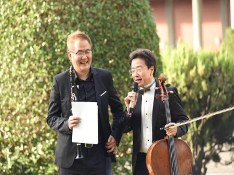 Outdoor Concert【Cellist Zhang Zheng-jie gave a performance.】