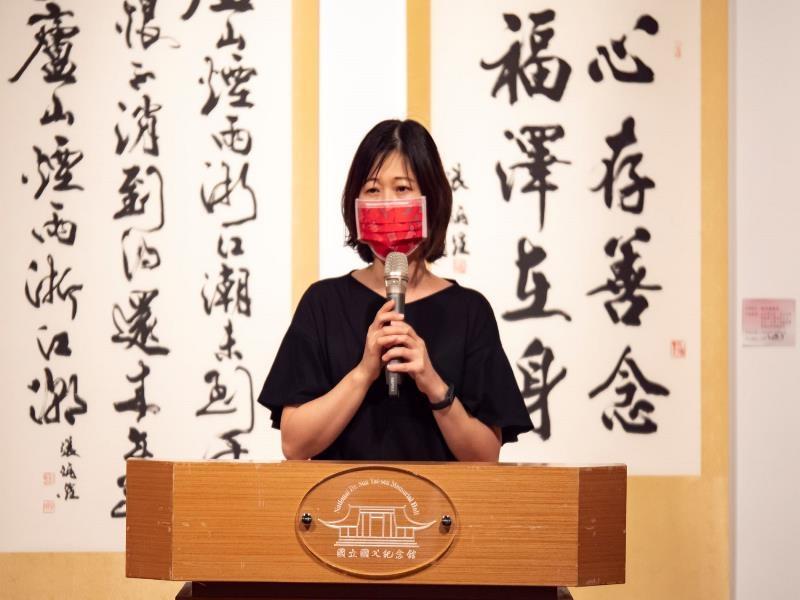 Senior Specialist of Department of Arts Development, Ministry of Culture, Liu Mei-zhi, gave a speec