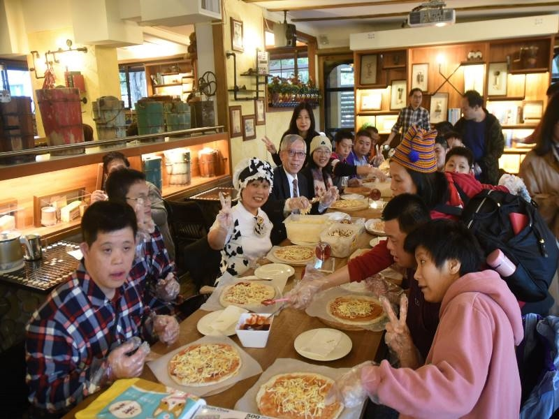 Dec. 23, 2019, Party with the students of Taipei City Yangming Home for the Disabled