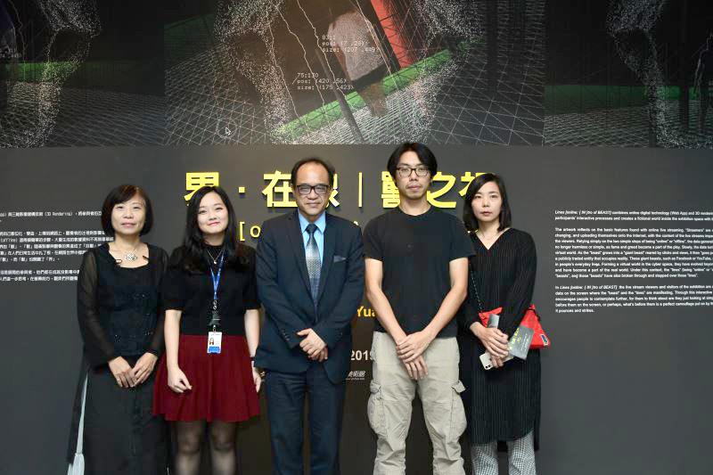 國美館林志明館長(中),藝術家蘇紳源(右二)及貴賓合影