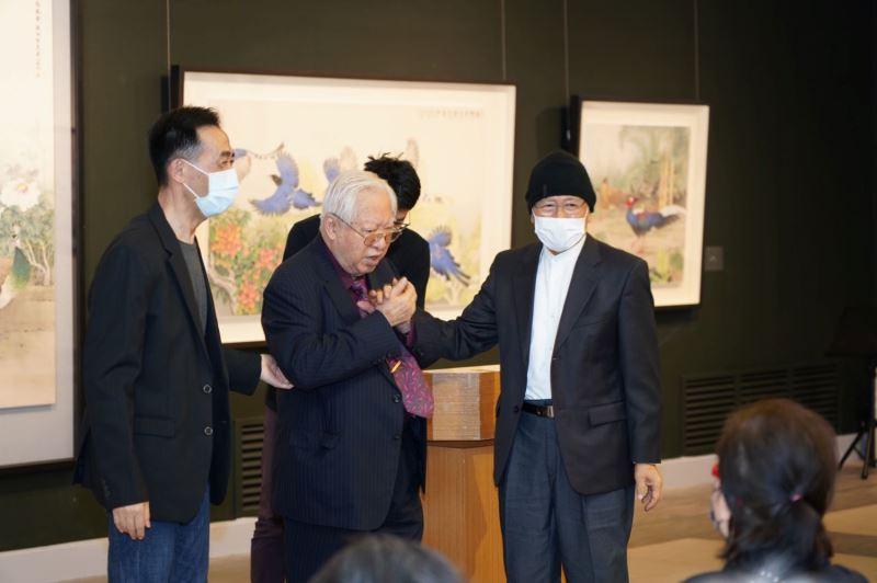 國父紀念館王蘭生館長、歐豪年教授、張克齊教授合影