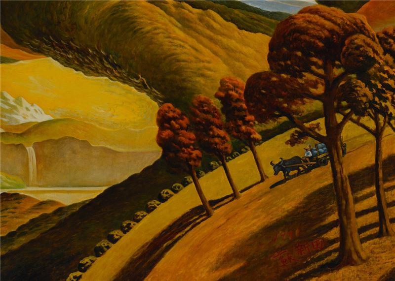 Su Hsin-tien〈The Dazzling Autumn Colors〉Detail