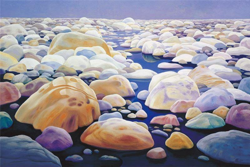 林惺嶽〈濁水溪〉1986 油彩、畫布 130×193.5 cm