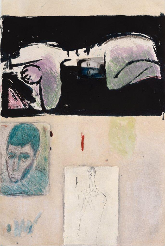 顧福生〈對證〉1967 蝕刻金屬版 45.8×30.5 cm