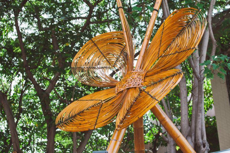 竹裝置藝術-蝴蝶