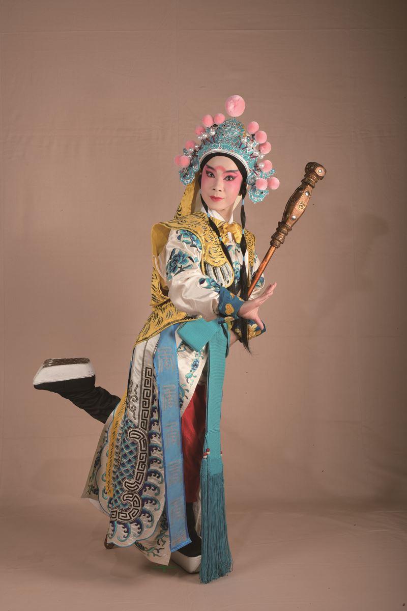 2019年青年薈演《雅觀樓》中,楊舒晴飾李存孝的扮相。