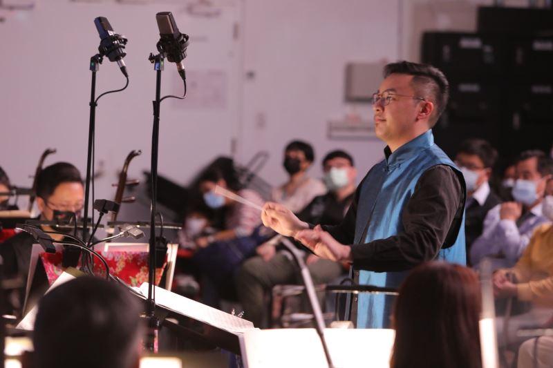 圖2:音樂會啟用臺灣青年指揮,圖為臺灣國樂團副指揮周聖文。
