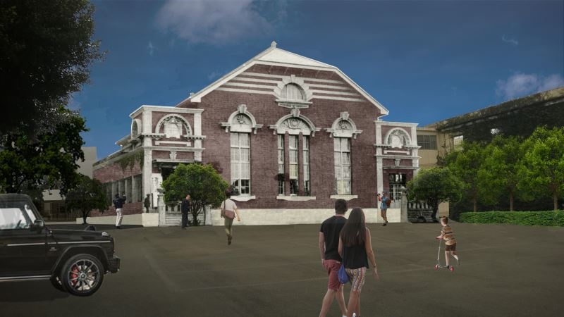 Digital representation of post-reconstruction facade (2021)