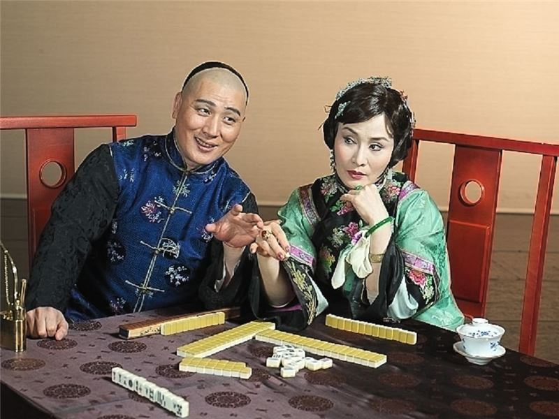 Promotional photo from The Golden Cangue( Wei Hai-min as Tsao Chi-chiao,Tang Wen-hua as Jiang Ji-ze)(2006)